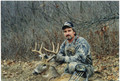 Whitetail hunter on private.