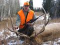 Light snow and successful elk hunt.