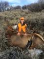 Proud teenager of his first cow elk.