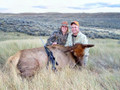 Happy couple about to fill the freezer with a Colorado cow elk.
