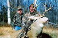 Mule deer hunting with a guide.