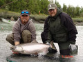 Salmon fishing in Newfoundland Canada.