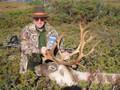 Hunting caribou in Canada.