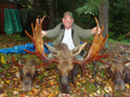 Guided moose hunt