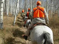 Travel by horse on a pack-in hunt.