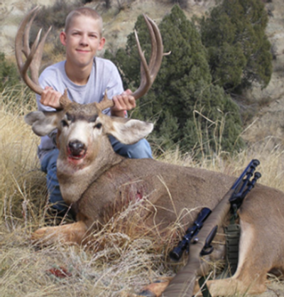 Mule deer buck for a young man starting out.