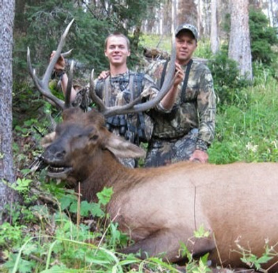 Guided archery hunt on public land.