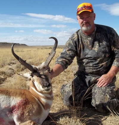 Trophy antelope with a wide spread.