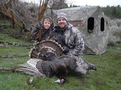 Happy couple who took their turkey from a blind on private land.
