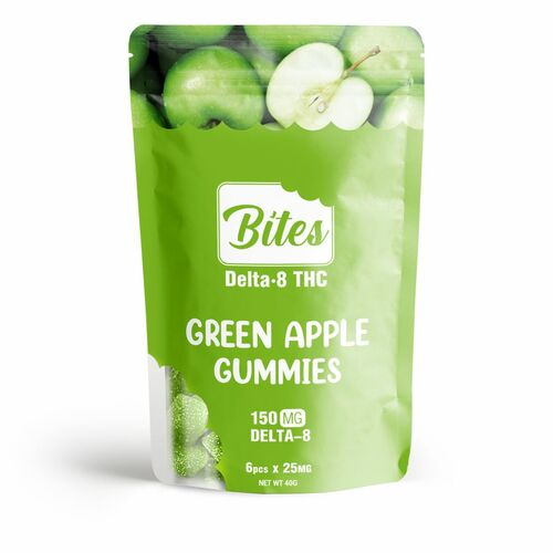 Delta8 THC  Bites Green Apple Gummies 150mg