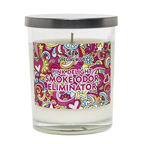 Special Blue Smoke Elimination Candles - Pink Delight