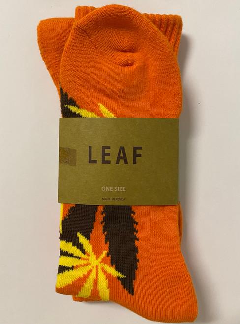 Leaf Republic Weed Socks - Orange