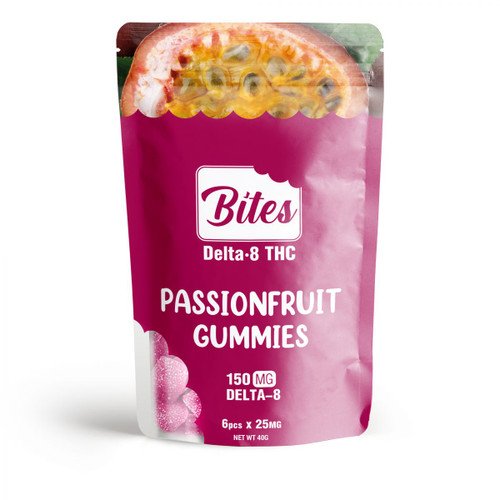 Delta-8 Bites - Passion Fruit Gummies - 150mg
