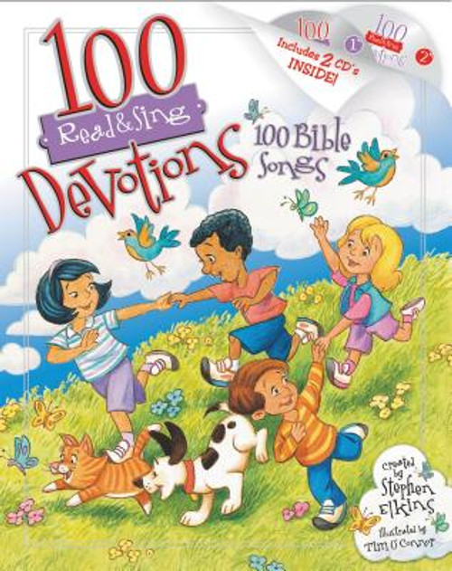100 Read & Sing Devotions, 100 Bible Songs [With 2 CDs]
