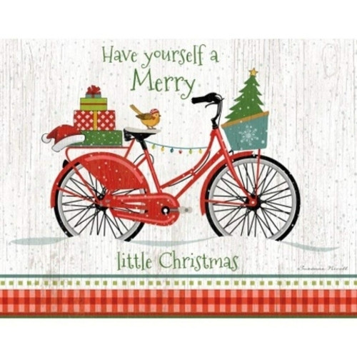 Christmas Bike Boxed Christmas Card