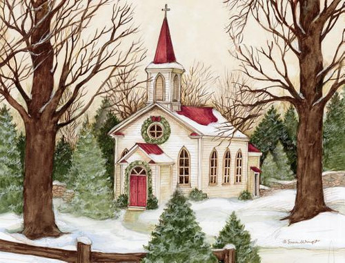 Woodland Church Boxed Christmas Cards
