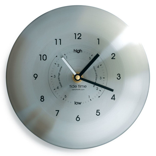 Time and Tide clock - stainless