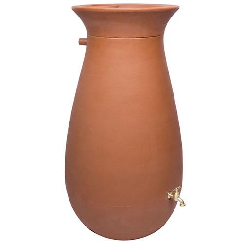 Cascata Clay Effect Water Barrel - full