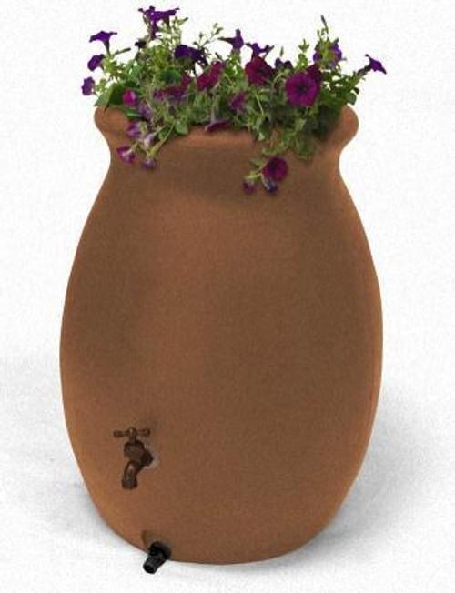 190L Castilla Rain Barrel with decorative planter