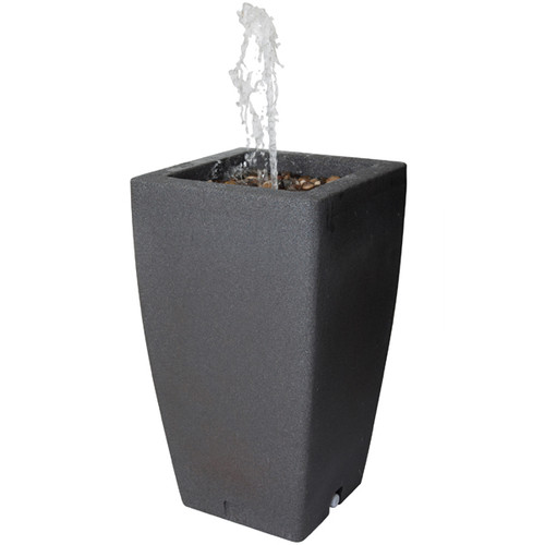 Madison 185 litre Rain Barrel with Water Feature in Millstone colour
