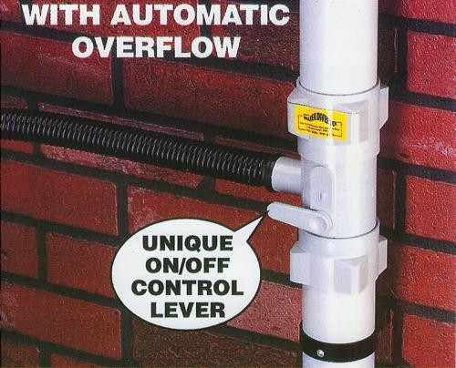 Universal Rainwater Diverter - white