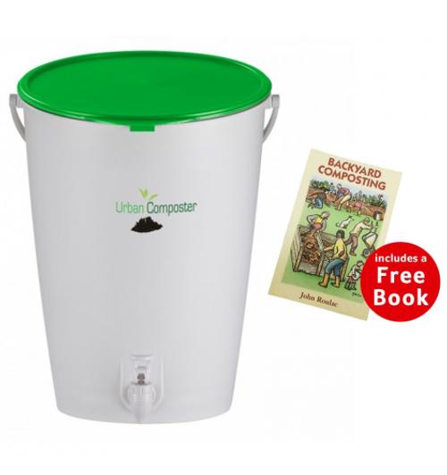 Bokashi Urban Composter (with Free Backyard Composting Book)