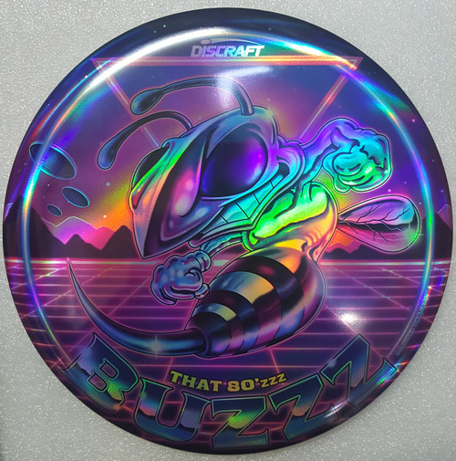 Discraft Buzzz - 80'zzz - ESP Full Foil SuperColor Prism - | 5 | 4 | -1 | 1 | - Stable-Straight