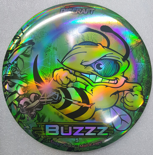 Discraft Buzzz - Chains Green - ESP Full Foil SuperColor Prism - | 5 | 4 | -1 | 1 | - Stable-Straight
