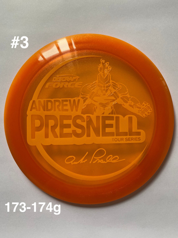 2021 Andrew Presnell Tour Series Force - | 12 | 5 | 0 | 3 | - Overstable - #3