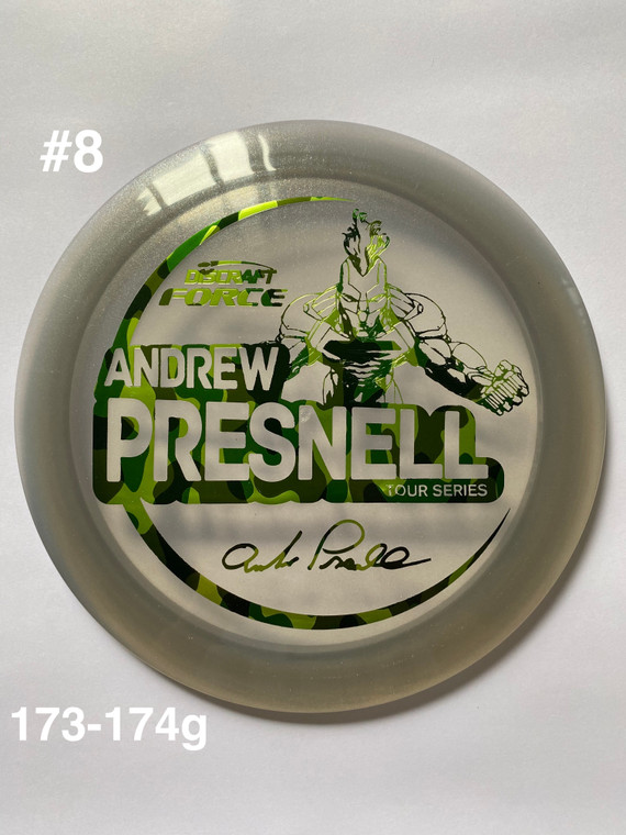 2021 Andrew Presnell Tour Series Force - | 12 | 5 | 0 | 3 | - Overstable - #8
