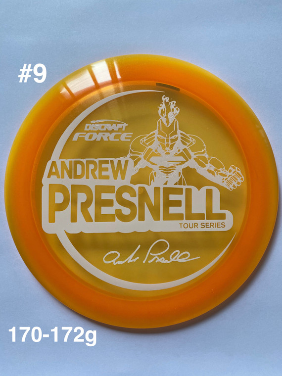 2021 Andrew Presnell Tour Series Force -   12   5   0   3   - Overstable - #9