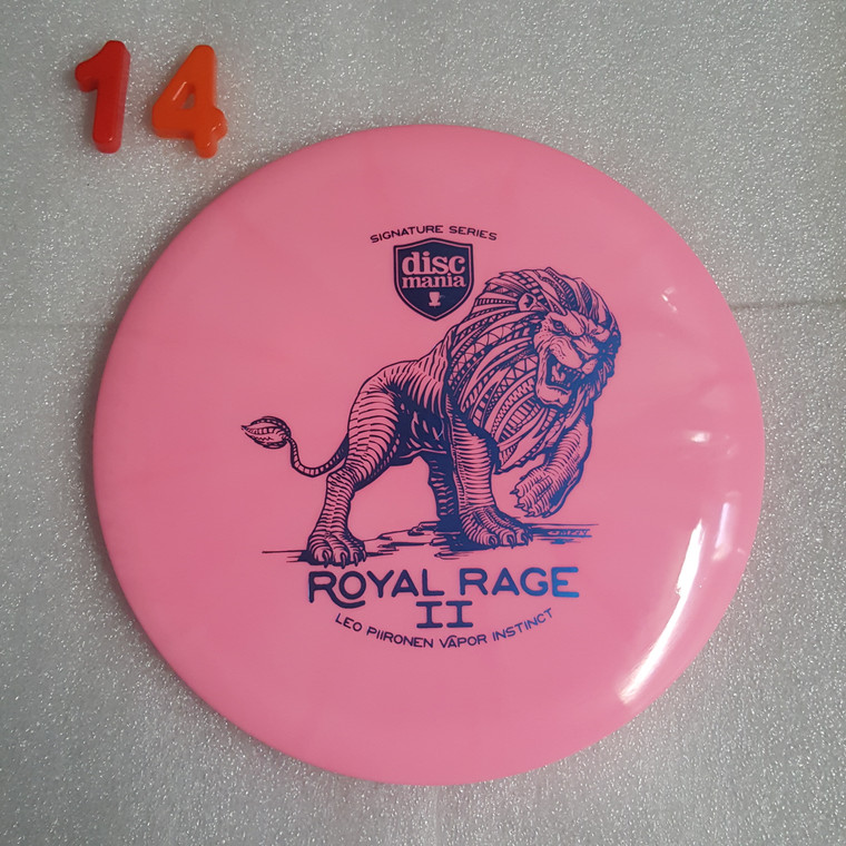 Discmania Instinct - Royal Rage 2  - Leo Piironen Signature Series - Lux Vapor Line - | 7 | 5 | 0 | 2 | - Slightly Overstable - #14 - 173g