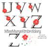 Poinsettia Letters SVG