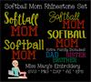 Rhinestone Softball Mom Set