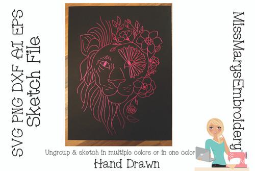 Sketch Flower Lion File