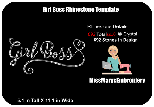Girl Boss Rhinestone