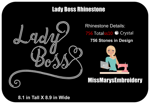 Lady Boss Rhinestone