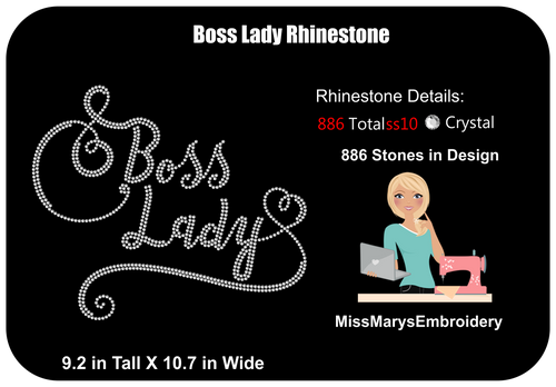 Boss Lady Rhinestone File