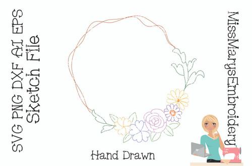 Flower Frame Sketch File
