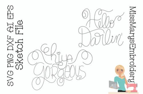 Hiya Gorgeous / Hello Darling