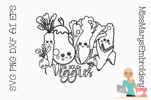 Veggies Coloring Page