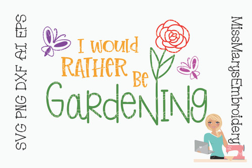 I would rather be gardening SVG