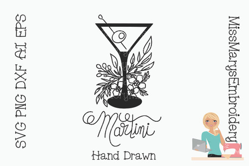 Hand Drawn Martini