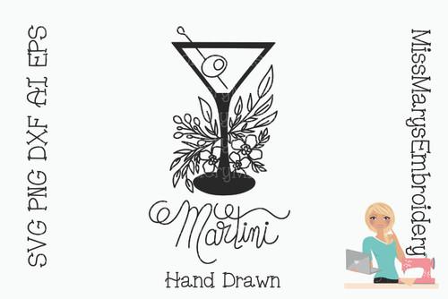 Hand Drawn Martini