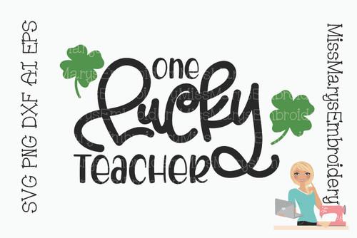 Lucky Teacher SVG