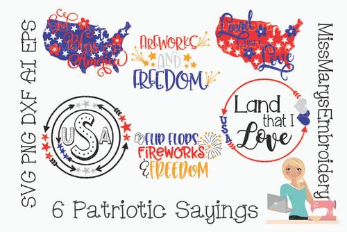 Patriotic Bundles 6 designs