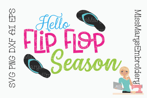 Hello Flip Flop Season SVG
