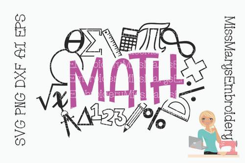 Math Title SVG