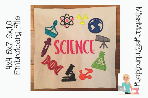 Science Monogram Embroidery