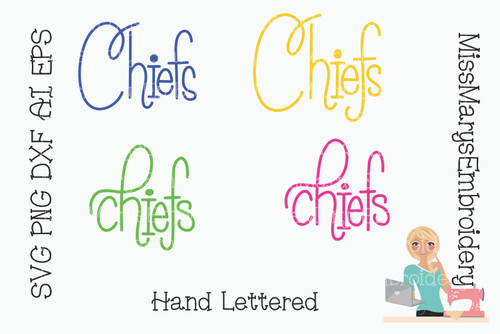 Hand Lettered Chiefs
